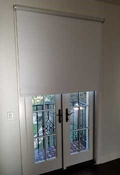 Wi-Fi Motorized Blinds for a French Door, Costa Mesa